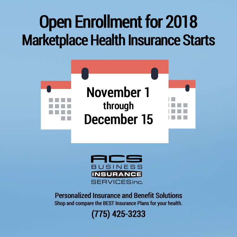 2018 Open Enrollment Marketplace Health Insurance